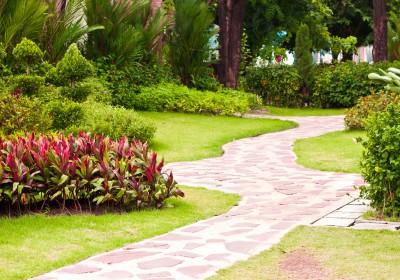 Stone Walkway Landscape Project